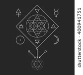 Symbol Of Alchemy And Sacred...