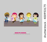 pupils boys and girls.boys and... | Shutterstock .eps vector #400953175