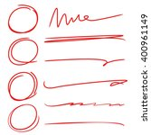 marker elements  hand drawn... | Shutterstock .eps vector #400961149