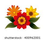 floral decoration design  | Shutterstock .eps vector #400962001