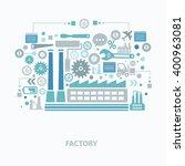 industry concept design on... | Shutterstock .eps vector #400963081