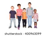 large group of children posing... | Shutterstock . vector #400963099