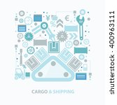 cargo and shipping concept... | Shutterstock .eps vector #400963111