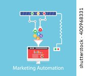 marketing automation | Shutterstock .eps vector #400968331