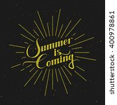 summer is coming. vector... | Shutterstock .eps vector #400978861