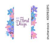 floral vector frame. forget me... | Shutterstock .eps vector #400981891