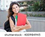 beautiful caucasian female... | Shutterstock . vector #400984945