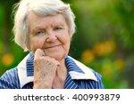 senior happy woman smiling in... | Shutterstock . vector #400993879