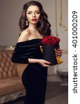 young beautiful pretty girl... | Shutterstock . vector #401000209