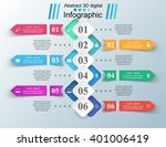 business infographics origami... | Shutterstock .eps vector #401006419