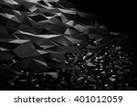 black abstract polygonal sci fi ... | Shutterstock . vector #401012059