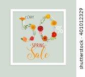 spring sale banner. poster.... | Shutterstock .eps vector #401012329