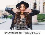 Outdoor Fashion Portrait Of...