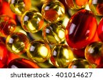 yellow medical capsules on a... | Shutterstock . vector #401014627