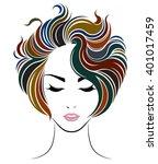 short hair style icon  logo...   Shutterstock .eps vector #401017459