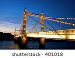 albert bridge   Shutterstock . vector #401018
