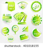 set  collection  group of green ... | Shutterstock .eps vector #401018155