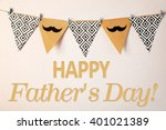 happy father's day. triangle... | Shutterstock . vector #401021389