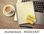 online training written on... | Shutterstock . vector #401021437
