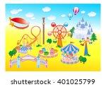 amusement park | Shutterstock .eps vector #401025799