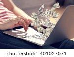 financial concept. make money... | Shutterstock . vector #401027071