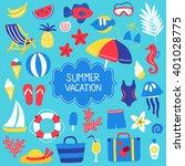 Set Of Summer Design Elements ...