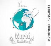 world health day concept with... | Shutterstock .eps vector #401028865