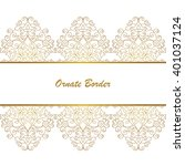 vector decorative frame.... | Shutterstock .eps vector #401037124