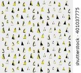 triangle pattern. vector... | Shutterstock .eps vector #401037775