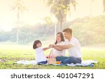 asian family picnic | Shutterstock . vector #401047291