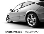 rear side view of a car on white | Shutterstock . vector #40104997
