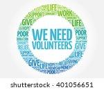 we need volunteers word cloud... | Shutterstock .eps vector #401056651