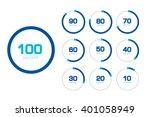 circle chart  graph. flat... | Shutterstock .eps vector #401058949