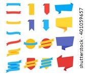 stickers and ribbons. set of... | Shutterstock .eps vector #401059657