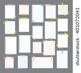 collection of various note... | Shutterstock .eps vector #401072041