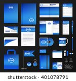corporate identity template set....   Shutterstock .eps vector #401078791