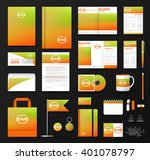 corporate identity template set.... | Shutterstock .eps vector #401078797