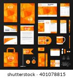corporate identity template set.... | Shutterstock .eps vector #401078815