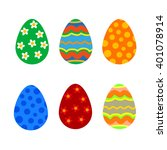 easter holiday flat style eggs. ... | Shutterstock .eps vector #401078914