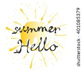 vector summer card with cute... | Shutterstock .eps vector #401085379