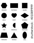 12 shape silhouettes  | Shutterstock .eps vector #401089999