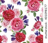 floral seamless pattern with... | Shutterstock . vector #401098177