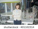 attractive asian business woman ... | Shutterstock . vector #401102314