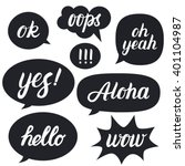 set of hand written lettering...   Shutterstock .eps vector #401104987