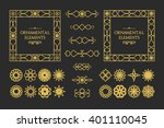 calligraphic design elements.... | Shutterstock .eps vector #401110045