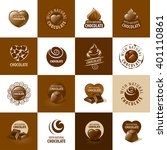 vector logo chocolate | Shutterstock .eps vector #401110861