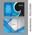 tri fold brochure and catalog... | Shutterstock .eps vector #401113264