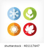 four seasons icons vector... | Shutterstock .eps vector #401117647