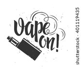 vape label with hand drawn... | Shutterstock .eps vector #401119435