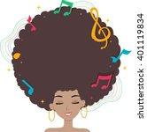 illustration of a black woman... | Shutterstock .eps vector #401119834